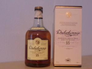 Flasche 15 Jahre Dalwhinnie mit Verpackung