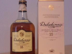 Flasche 15 Jahre Dalwhinnie mit Verpackung von der Nähe