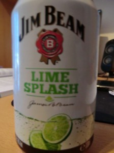 eine Dose Jim Beam Lime Splash